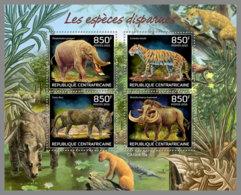 CENTRALAFRICA 2019 MNH Extinct Species Ausgestorbene Tiere Especes Disparues M/S - OFFICIAL ISSUE - DH1937 - Stamps