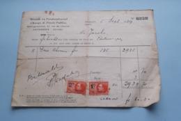Wissel- En Fondsenbureel / Change & Fonds Publics ANTWERPEN > Anno 1929 ( Zie Foto's ) ! - Banque & Assurance