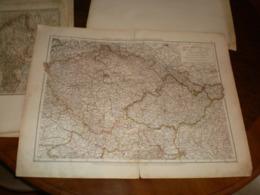 Bohmen Mahren Und Osterreichisch Schleisen Volks Und Familien Atlas A Shobel Leipzig 1901 Big Map - Cartes Géographiques