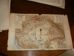 Magyar Korona Orszagainak Kezi Terkepe Bad Kondition - Geographical Maps