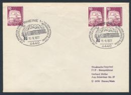 Deutschland Germany 1977 Brief Cover - Dampflok Geht In Ruhestand - Betriebswerk Rheine - Treinen