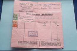 Jacques WAUTERS WISSELAGENT Antwerpen > Anno 1937 ( Zie Foto's ) 2 Stuks ! - Bank & Insurance