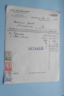 J. & A. DE MEULDER Openbare Fondsen BORGERHOUT > Anno 1946 ( Zie Foto's ) 2 Stuks ! - Bank & Insurance