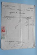 J. & A. DE MEULDER Openbare Fondsen BORGERHOUT > Anno 1937 ( Zie Foto's ) 1 Stuk ! - Banque & Assurance