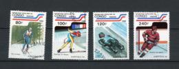 CONGO : JO D'ALBERTVILLE 92 -  N° Yvert  861+862+863+865 Obli. - Neufs