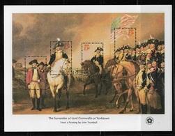 US 1976 S/S American Revolution Issue 13c Surrender Of Cornwallis At Yorktown,Scott # 1686,VF MNH** (RN-8) - Us Independence