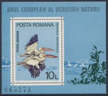 Romania Romana Rumänien 1980 B167 - Mi 3711 ** Pelecanus Onocrotalus : Eastern White Pelicans / Rosapelikan / Pélican - Blocs-feuillets