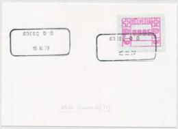 Aushilfsstempel 6965 CODRO - Poststempel