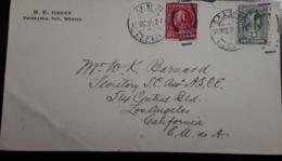 O) 1914 MEXICO, AMBULANTE - TPO, O.P.A - OPA, COAT OF ARMS IMPERFORATE SC 369 5c, WASHINGTON 2c, POSTAGE DUE, H. E. GRE - Mexico