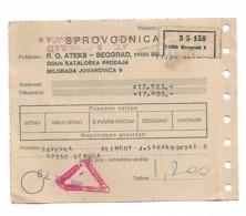 Stamps POTRO + Money Send To Belgrade To Struga  1985 - Non Classificati