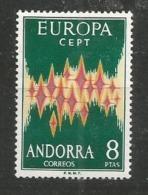 ANDORRA - MNH - Europa-CEPT - Art - 1972 - Without Glue - 1972