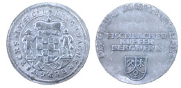 02234 GETTONE TOKEN JETON COMMEMORATIVE ZINK BERGBAU 81 DUSSELDORF FISCHBACHER KUPFER BERGWERK - Zonder Classificatie