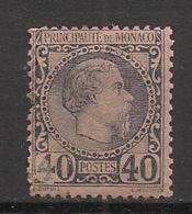 Monaco - 1885 - N°Yv. 7 - Charles III 40c Bleu Sur Rose - Neuf * / MH - Monaco