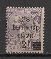 Monaco - 1921 - N°Yv. 50 - Albert 1er 2f Sur 5f Violet - Neuf Luxe ** / MNH / Postfrisch - Nuevos