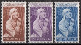 """Vaticano 1962  """"...Niccolò..Tuldo..Santa Caterina"""" Affresco Quadro Dipinto Sodoma MNH Rinascimento Paintings Full Set - Religious"""