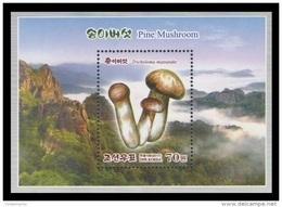 North Korea 2017 Mih. 6388 (Bl.940) Flora. Matsutake (Pine Mushrooms). Mountains MNH ** - Corea Del Norte