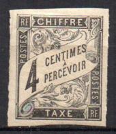 Col17  Emissions Générales Taxe N° 4  Neuf X MH  Cote : 5 Euros - Postage Due
