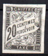 Col17  Emissions Générales Taxe N°8 Neuf X MH  Cote : 18 Euros - Postage Due