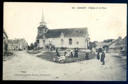 Cpa Du 22  Langast L' église Et La Place   LZ50 - France
