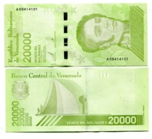Venezuela P.new 20000 Bolivares 2019   Unc - Venezuela