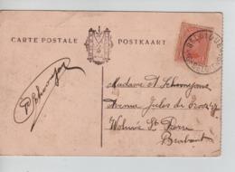 PR6996/ TP 135 S/CP Dixmude Souvenir Guerre C.Passe Partout Belgique - België *16* > Woluwé St.Pierre - Fortune Cancels (1919)