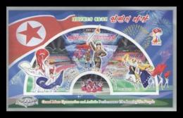 North Korea 2019 Mih. 6617B/19B (Bl.1021B) Grand Mass Gymnastics And Artistic Performance Land Of People (imperf) MNH ** - Korea (Nord-)
