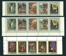 USSR, 1969 1975, Lot Of 3 Strips: MiNr 3689-3693 + 4434-4438 ** MNH:, See Description; Fairy Tales, Märchen - 1923-1991 URSS