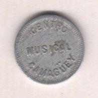 Caribe  / Cuba TOKEN CENTRO MUSICAL CAMAGUEY 1 CENTAVO Aluminio 18mm - Tokens & Medals