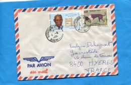 MARCOPHILIE-Lettre-Burkina Faso >Françe-cad Aéroport 1990-2-stamps N° 751-j Lutauli+751 Chien De Chasse - Burkina Faso (1984-...)