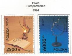 Polen / Polska   1994  Mi.Nr. 3486 / 3487 , EUROPA CEPT - Entdeckungen Und Erfindungen - Gestempelt / Fine Used / (o) - Europa-CEPT