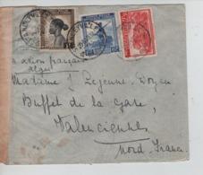 PR6697/ TP 241-257-264 S/L.Avion (par Avion Français Alger) C.Stanleyville 1945 Via Léo. Censure Congo Belge > France - Belgisch-Kongo