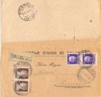 1931 Da Ospedale Civico Di PALERMO Per Ficarazzi (PA) - Franc - 1900-44 Vittorio Emanuele III