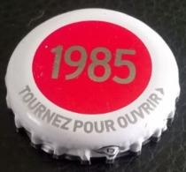 France Capsule Bière Crown Cap Beer Kronenbourg Les Années Qui Comptent 1985 - Bier