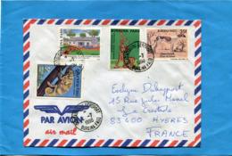 MARCOPHILIE-Lettre-Burkina Faso >Françe-cad1990-4-stamps N° 807 Dog-sahel-662 Chamaleon - Burkina Faso (1984-...)