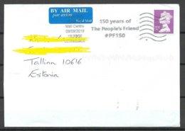 GREAT BRITAIN 2010 Air Mail Cover To Estonia Queen Elizabeth II + Advertising Cachet - 1952-.... (Elizabeth II)