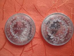 2 Pieces 50 Francs Argent 1979 - France