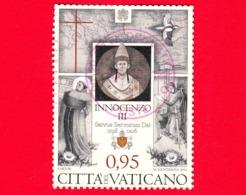 VATICANO - Usato - 2016 - 800º Anniversario Della Morte Di Innocenzo III - Ritratto - 0.95 - Vaticano