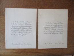 FONTARECHE LE 10 OCTOBRE 1901 MADEMOISELLE MARGUERITE BORIES AVEC JULES DE LAMY LIEUTENANT AU 20e REGIMENT D'INFANTERIE - Mariage