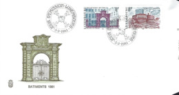 Luxembourg - FDC   5.3.1981   BATIMENTS  1981 - FDC
