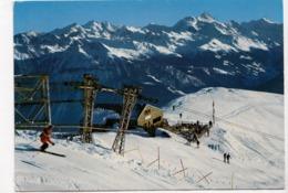 CRANS SIERRE, Le Panorama Des Alpes Valaisannes Vu De Bella-Lui, 1971 Used Postcard [23507] - VS Valais