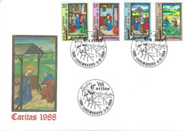 LUXEMBOURG  -  FDC     5.12.1988   Caritas 1988 - FDC