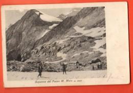 MTV-33 Bergh!utte Monte Moro Pass Zwischen Saas-Almagell Und Macagnana Italia.Capanna Del Passo. Belebt.Gelaufen In 1926 - VS Valais