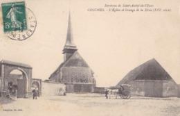 COUDRES - L'Eglise Et Grange De La Dîme - Autres Communes