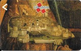 CARTE-MAGNETIQUE-CROATIE-TABLEAU-CHATEAU MEDIEVAL-TBE - Kroatien