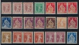 Suisse // Schweiz // Svizzera // Switzerland // 1907-1939 // Lot De Timbres Neufs Avec Charnière (MH) - Ongebruikt