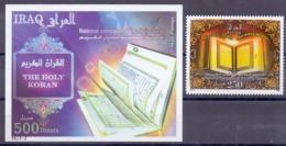 2010 IRAQ Complete Set 1 Values +1 Souvenir Sheets MNH S.G.No.2302-2303 - Iraq