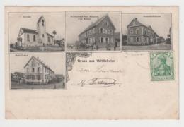 BB206 - GRUSS AUS WITTISHEIM  - Multivues - Sehulhaus - Kirche - Gemeindehaus - France