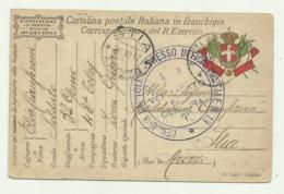 CARTOLINA REGIO ESERCITO 3 GENIO , 42 TELEGRAFISTA INVIATA A STIA AREZZO 1917 - Guerra 1914-18
