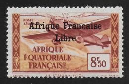 AFRIQUE EQUATORIALE FRANCAISE - AEF - A.E.F. - 1940 - YT PA 19** - VARIETE SANS CEDILLE - A.E.F. (1936-1958)