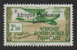 AFRIQUE EQUATORIALE FRANCAISE - AEF - A.E.F. - 1940 - YT PA 15** - VARIETE SANS CEDILLE - A.E.F. (1936-1958)